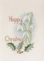 Snowdrops Christmas Card Cross stitch Kit
