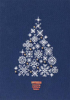 Snowflake Tree Cross Stitch Kit by Derwentwater