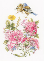Finches Cross Stitch Kit by Lanarte