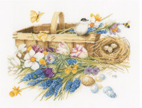 Spring Flowers Cross Stitch Kit by Lanarte