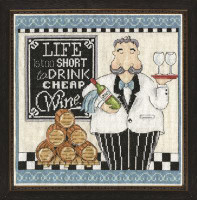 Cheap Wine Cross Stitch Kit by Design Works