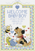 Welcome Baby Boy Cross Stitch Kit by Janlynn