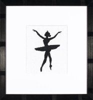 Ballet Silhouette 3 Cross Stitch Kit By Lanarte
