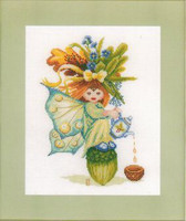 Acorn Girl Cross Stitch Kit by Lanarte