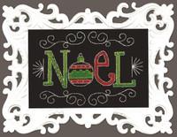 Noel Chalk Board Cross Stitch Kit by Design Works