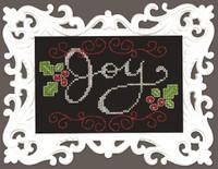 Joy Chalkboard Cross Stitch Kit by Design Works