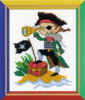 Brave pirate Cross Stitch kit by Riolis