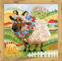 The Farm Lamb Cross Stitch Kit by Riolis