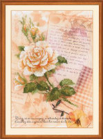 Love Letters and Roses Cross Stitch Kit by Riolis