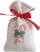 Candy Cane Bag Cross Stitch Kit by Luca-S