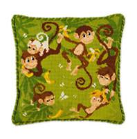 Jungle Cushion Cross Stitch Kit by Riolis