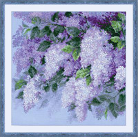 Lilacs After the Rain Cross Stitch Kit by Riolis