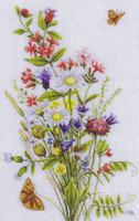Field Flowers Cross Stitch kit by Lanarte