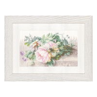 Still Life with Peonies Cross Stitch kit by Lanarte