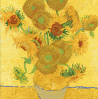 Vincent Can Gogh The sunflowers Cross Stitch Kit By DMC