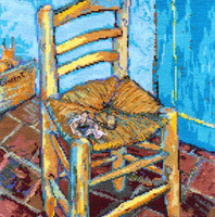 Vincent Van Gogh, Van Goghs chair Cross Stitch Kit by DMC