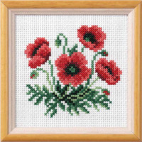 Poppy Garden Posies Cross Stitch Kit by Orchidea