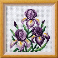 Iris Garden Posies Cross Stitch Kit by Orchidea