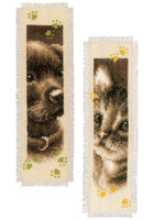 Cute animals Bookmark cross stitch kits Set of two