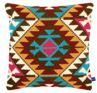 Ethnic print Chunky Cross Stitch Cushion Kit