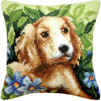 Dog Chunky Cross Stitch Cushion Kit by Orchidea