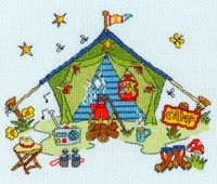 Sew Dinky Tent Cross Stitch Kit by Bothy Threads
