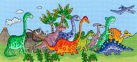 Dinosaur Fun Cross Stitch kit by Bothy Threads