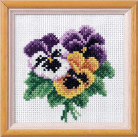Pansy Garden Posies Cross Stitch Kit by Orchidea