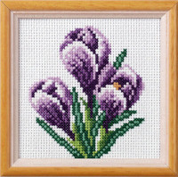 Crocus Garden Posies Cross Stitch Kit by Orchidea