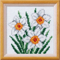 Narcissus Garden posies Cross Stitch Kit by Orchidea