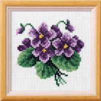 Viola Garden posies Cross Stitch Kit by Orchidea