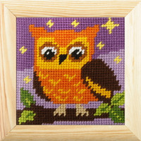 My first Embroidery Needlepoint Kit - Owl By Orchidea