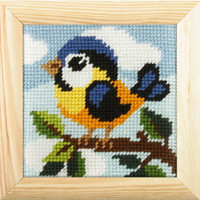 My First Embroidery Needlepoint Kit - Birdie By Orchidea