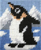 My First Embroidery Needlepoint Kit Baby Penguin By Orchidea