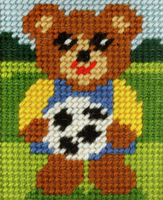 My First Embroidery Needlepoint Kit Boy Bear By Orchidea