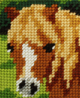 My First Embroidery Needlepoint Kit Pony By Orchidea