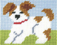 My First Embroidery Needlepoint Kit Puppy By Orchidea