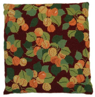 Apricots Natural Garden Tapestry Cushion by Cleopatra