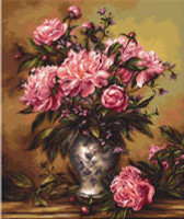 Vase of Peonies Petit Cross Stitch Kit by Luca-S