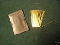 25 Gold Plated needles Cross stitch Size 24