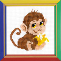 Monkey Cross Stitch Kit by Riolis