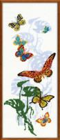 Exotic Butterflies Cross Stitch Kit by Riolis