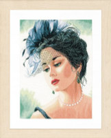 Counted Cross Stitch Kit: Lady with Hat (Linen) By Lanate