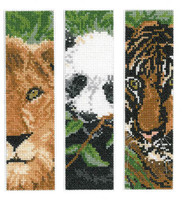 Wild Animals Bookmarks - Cross Stitch Charts by Linda Bird