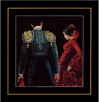 Counted Cross Stitch Kit: Dancing In Passion (Aida,B) By Lanate