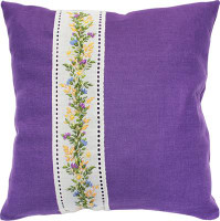 Floral Wheat Band Cross Stitch Cushion Kit by Luca S