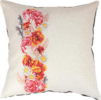 Rose and Daisy Cross Stitch Cushion Kit by Luca-s