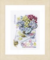 Counted Cross Stitch Kit: Hortensia (Aida,W) By Lanarte