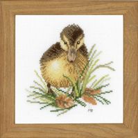 Counted Cross Stitch Kit: Duckling One (Aida,W) By Lanarte