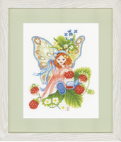Wild Strawberries Girl (Aida) Counted Cross Stitch Kit By Lanarte